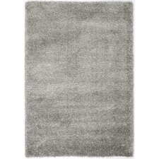 California Shag Silver Area Rug