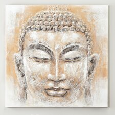 Peace Buddha Painting Print on Canvas