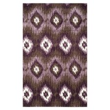 Retro Dark Brown / Eggplant Rug