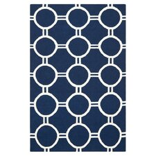 Dhurries Navy Rug
