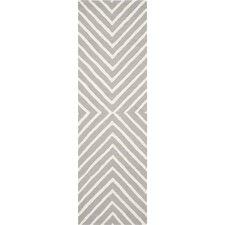 Safavieh Cambridge Geometric Silver & Ivory Rug