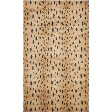 Tibetan Leopard Brown Area Rug