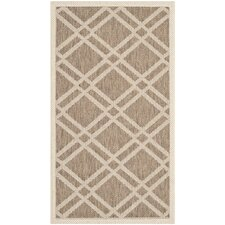Courtyard Brown / Bone Outdoor Rug