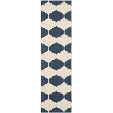 Courtyard Beige / Navy Contemporary Rug