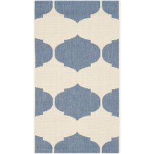 Courtyard Beige / Blue Contemporary Rug