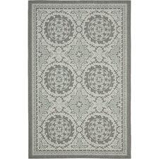 Courtyard Anthracite / Light Grey Oriental Rug