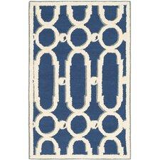 Newport Royal Blue/White Geometric Area Rug