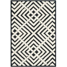 Newport Black/White Geometric Area Rug