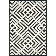 Newport Black / White Geometric Rug