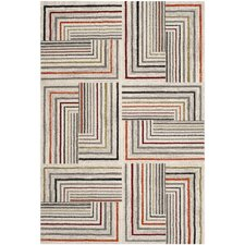 Porcello Ivory & Grey Contemporary Rug