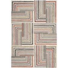 Porcello Ivory / Grey Contemporary Rug