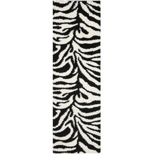 Florida Shag Ivory/Black Area Rug