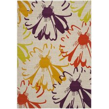 Porcello Light Grey / Purple Floral and Plant Rug