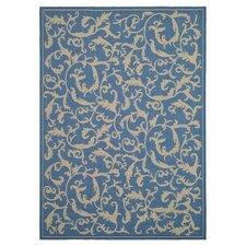 Courtyard Blue/Natural Persian Outdoor Rug