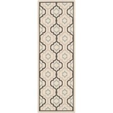 Courtyard Beige & Black Outdoor Area Rug