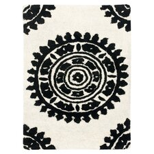 Soho Ivory & Black Area Rug