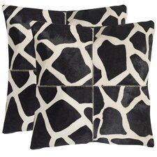 Antonio Cow Hide Throw  Pillow (Set of 2)