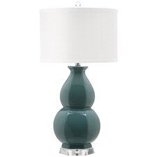 "Juniper 30.25"" H Table Lamp with Drum Shade"