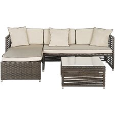 Thomas 3 Piece Living Room Set with Beige Cushions