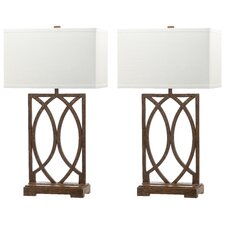 "Jago 29.5"" H Table Lamp with Rectangular Shade (Set of 2)"