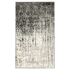 Retro Black/Light Grey Rug