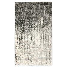 Retro Black & Light Grey Rug