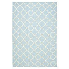 Dhurries Light Blue & Ivory Rug