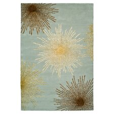 Soho Burst Light Blue Area Rug