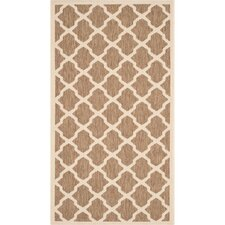 Courtyard Brown/Bone Outdoor/Indoor Area Rug