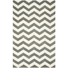 Chatham Dark Gray & Ivory Chevron Area Rug