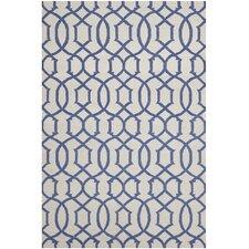 Dhurries Ivory / Purple Rug