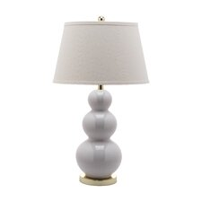 "27"" H Pamela Triple Gourd Table Lamp with Empire Shade (Set of 2)"