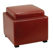 Bobbi Leather Storage Ottoman