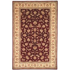 Persian Court Burgundy/Beige Farahan Rug
