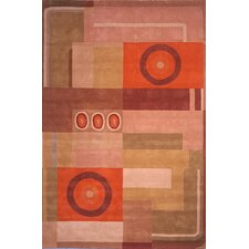 Rodeo Drive Khaki/Rust Forbes Rug
