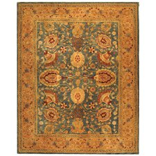 Taj Mahal Blue/Tan Rug