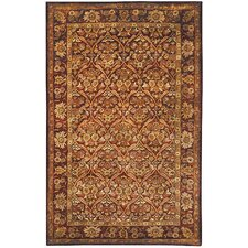 Antiquities Garden Panel Wine/Gold Rug