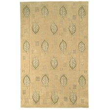 Berkeley Beige Leaves Rug