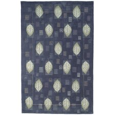 Berkeley Blue Leaves Rug