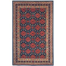 Classic Black/Dark Red Rug
