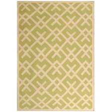 Dhurries Light Green/Ivory Area Rug
