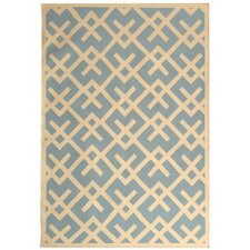 <strong>Safavieh</strong> Safavieh Dhurries Light Blue/Ivory Rug