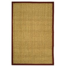 <strong>Safavieh</strong> Natural Fiber Natural/Red Rug
