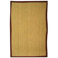 Natural Fiber Natural/Light Red Rug