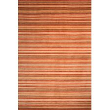 Tibetan Rust Stripes Area Rug