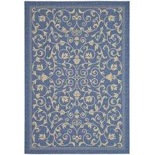 Courtyard Floral Blue/Natural Rug