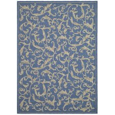 <strong>Safavieh</strong> Courtyard Blue/Natural Persian Rug