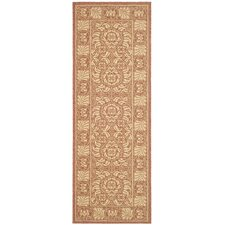 Courtyard Rust/Sand Outdoor Rug