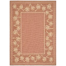 <strong>Safavieh</strong> Courtyard Powerloomed Rust/Sand Rug
