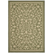 Courtyard Olive/Natural Outdoor Rug